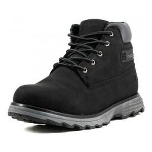 Ботинки зимние мужские Restime KMZ18061 черный нубук