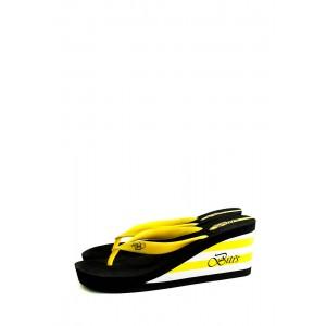 Сабо женские Bitis 8906-H черно-желтые