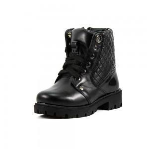 Ботинки зимние детские Alexandro AO19205 черная кожа