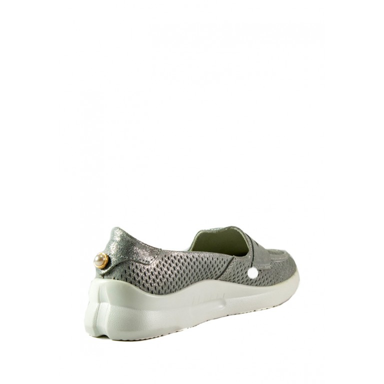 Мокасины женские Allshoes 206-720XM-16 светло-серые