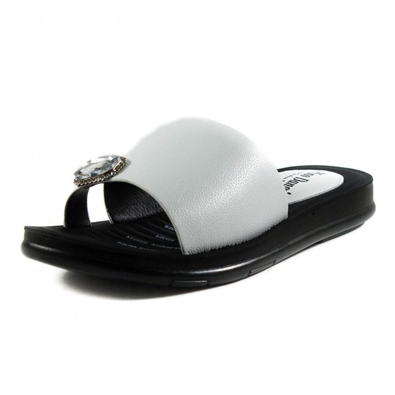 Шлепанцы женские Pino Dangio Z10-1A черно-белые