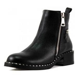 Ботинки демисезон женские Lonza L-3052-959L черная кожа