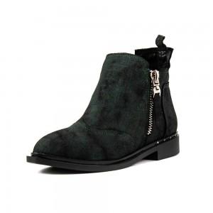 Ботинки демисез женск CRISMA CR2901-STL темно-зеленая замша