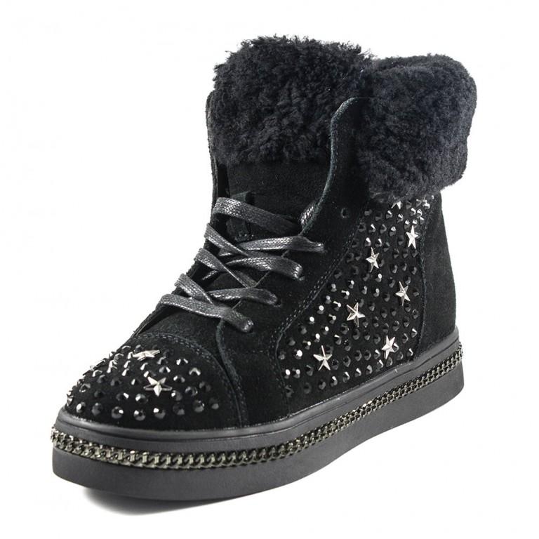 Ботинки зимние женские Sopra FLM81-1 черные