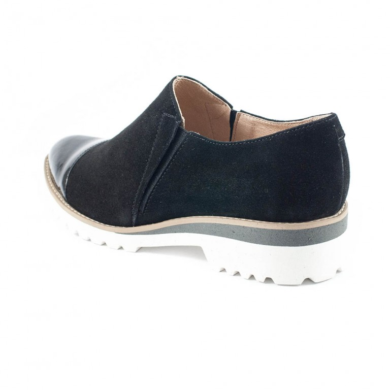 Туфли женские Tutto Shoes T3301 черная замша