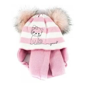 A858ST светло-розовая шапка-шарф 40-42