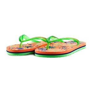 Шлепанцы детские Bitis 9948-A бирюзово-оранжевые