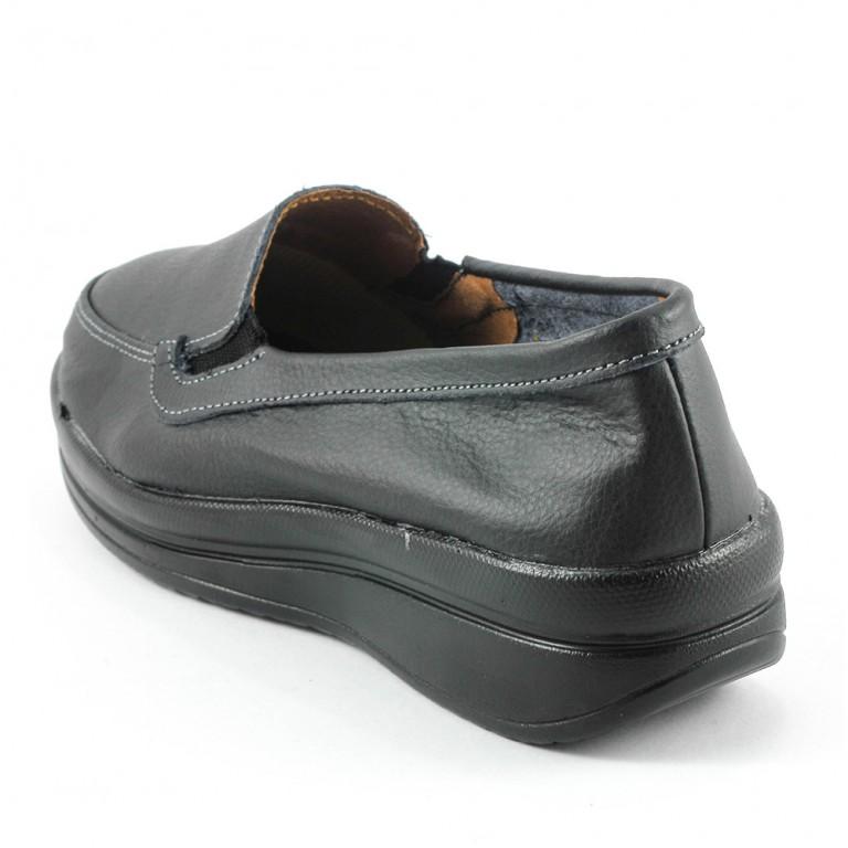 Мокасины женские  Zoja's shoes 75211-1 черная кожа