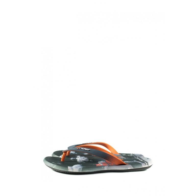 Вьетнамки мужские Rider 10719-24097 серо-оранжевые