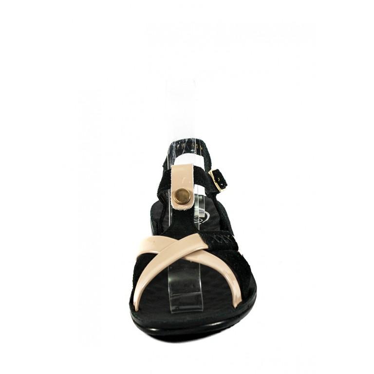 Босоножки женские TiBet 414-54-09 черно-бежевые