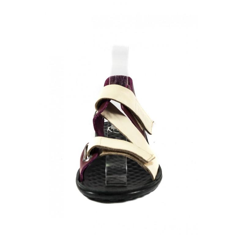 Сандалии женские TiBet 236 кремово-бордовые