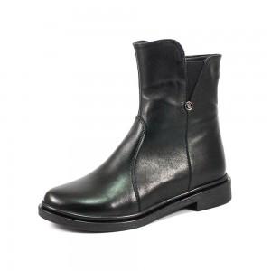 Ботинки демисез женск AmeLi AL125 черная кожа