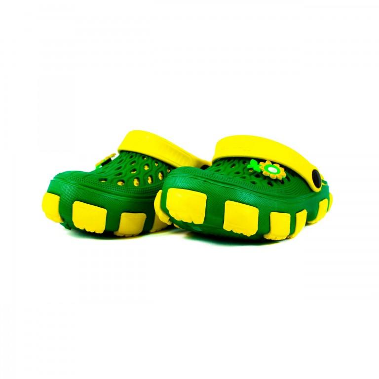 Сабо детские Jose Amorales 116120-1 зелено-желтые