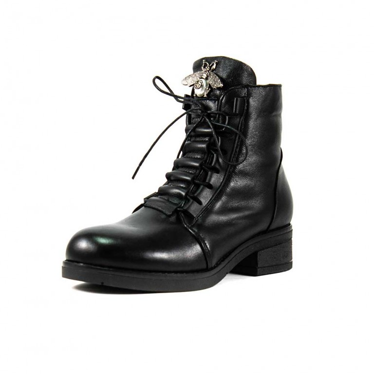 Ботинки зимние женские Lonza L-234-1502LS ч.к черные