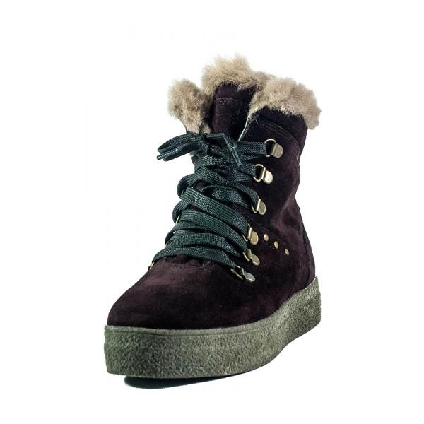Ботинки зимние женские MIDA 24877-658Ш бордовые