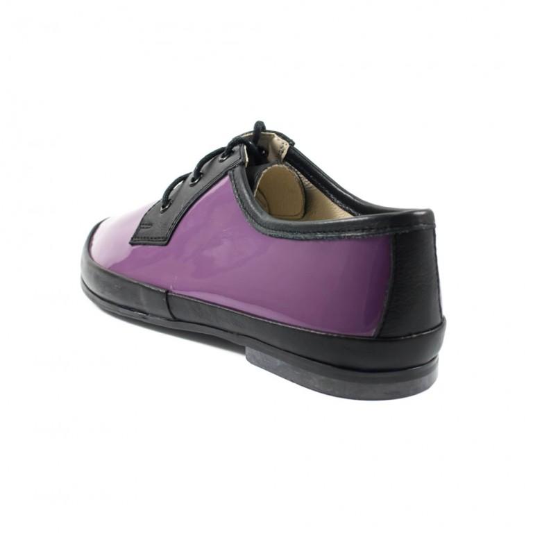 Туфли женские MIDA 21430-306 фиолетовый лак