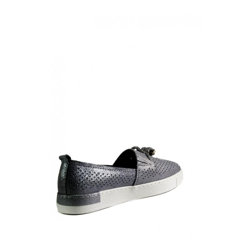 Мокасины женские Allshoes 18683-2K светло-серые