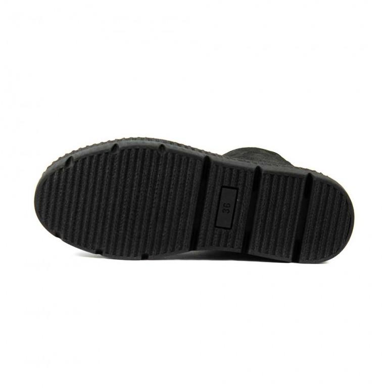 Ботинки зимние женские Lonza L-308-2248-1K серебрянная кожа