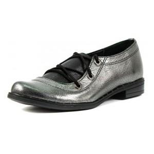 Туфли женские Vakardi V104 серебряная кожа