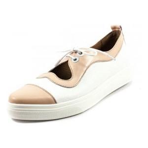 Туфли женские Tutto Shoes T3344 розово-белая кожа