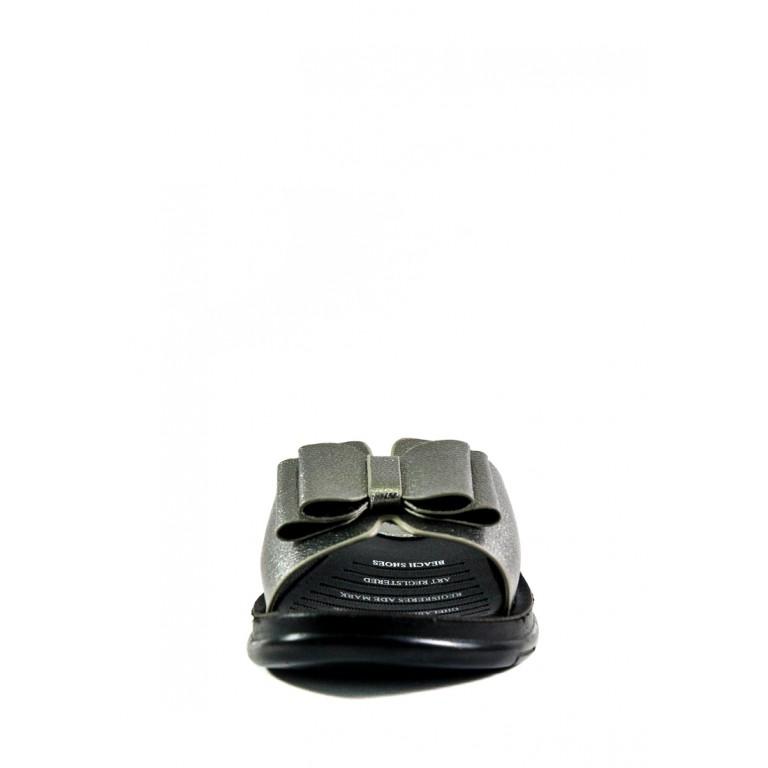 Шлепанцы женские Sopra 81-7 черно-серебряные