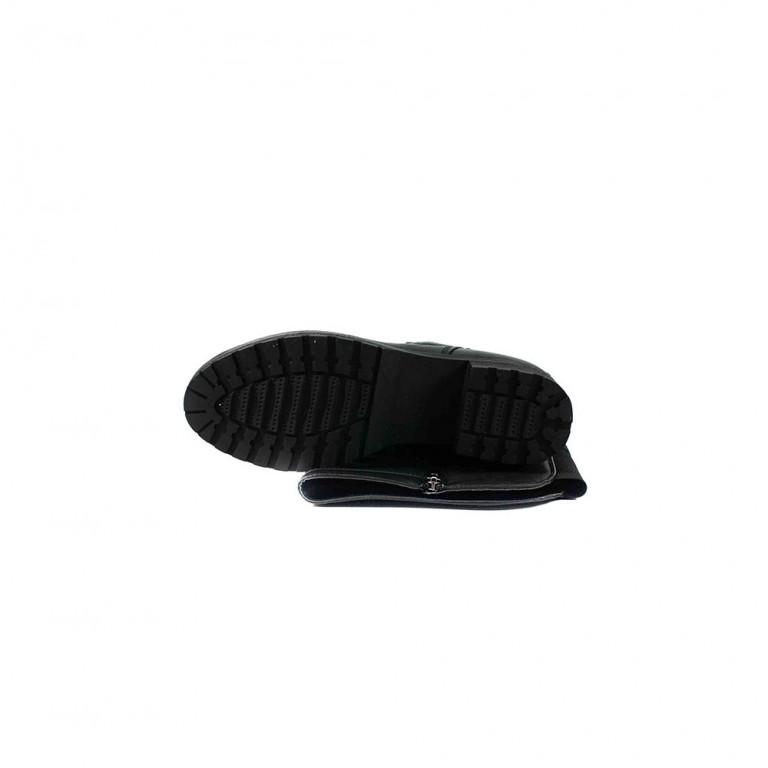 Сапоги зимние женские Lonza 62596-12A черная кожа