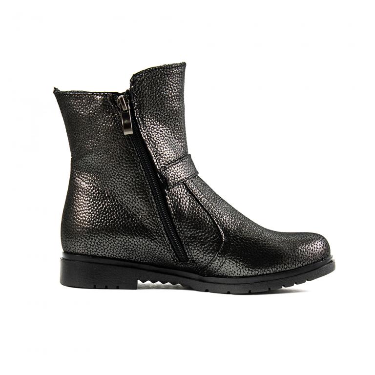 Ботинки зимние женские SND SDZ29 серая кожа