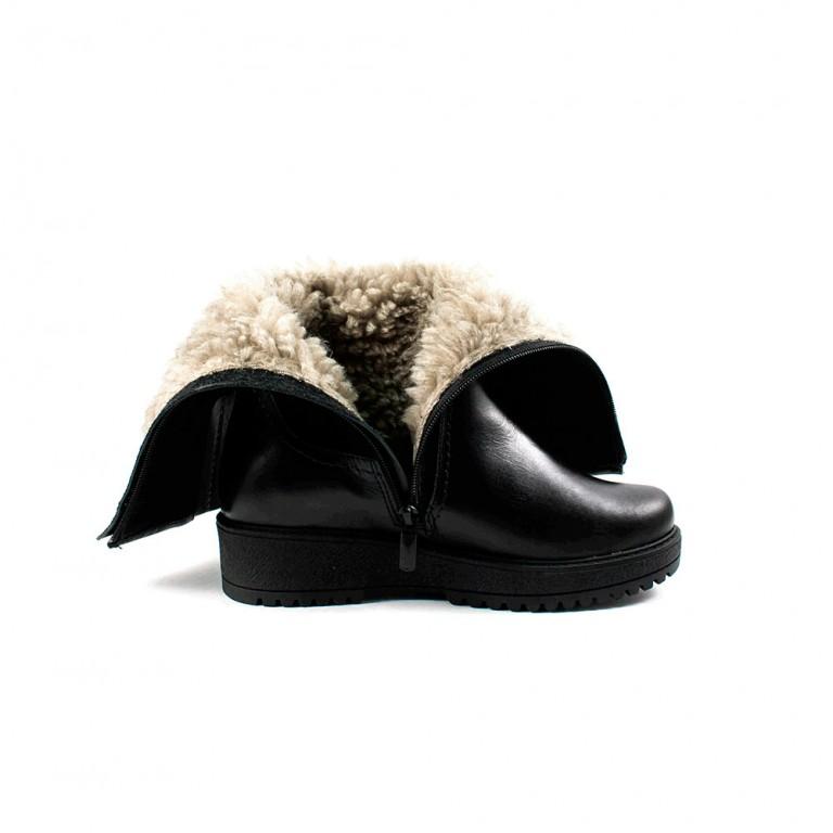 Сапоги зимние женские MISTRAL МБ715з черная замша - кожа