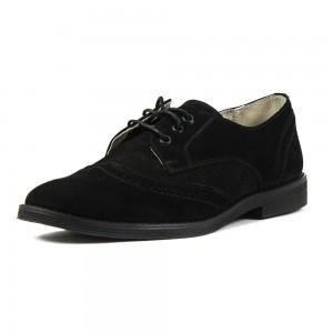 Туфли подростковые MIDA 31180-9 черная нубук