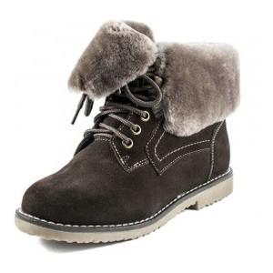 Ботинки зимние женские Lonza 3066-1C коричневая замша