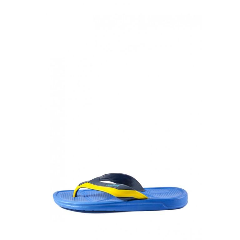 Шлепанцы мужские Restime MML18191-1 сине-желтые