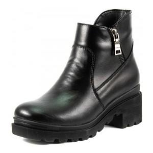 Ботинки демисезон женские SND SDAZ-32 черная кожа