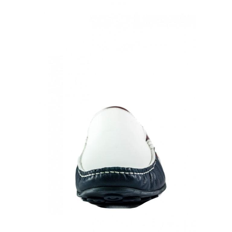 Мокасины мужские MIDA 110529-103 сине-белые