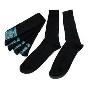 Шкарпетки чоловічі Zsocks Zsocks напіввовна черн 43-44
