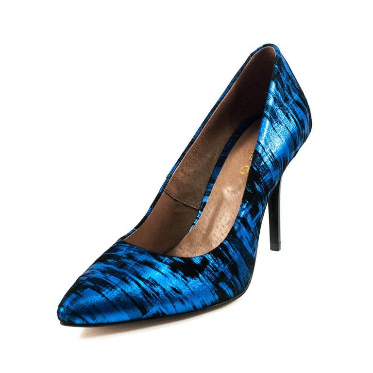 Туфли женские Tutto Shoes T3122 синий текстиль