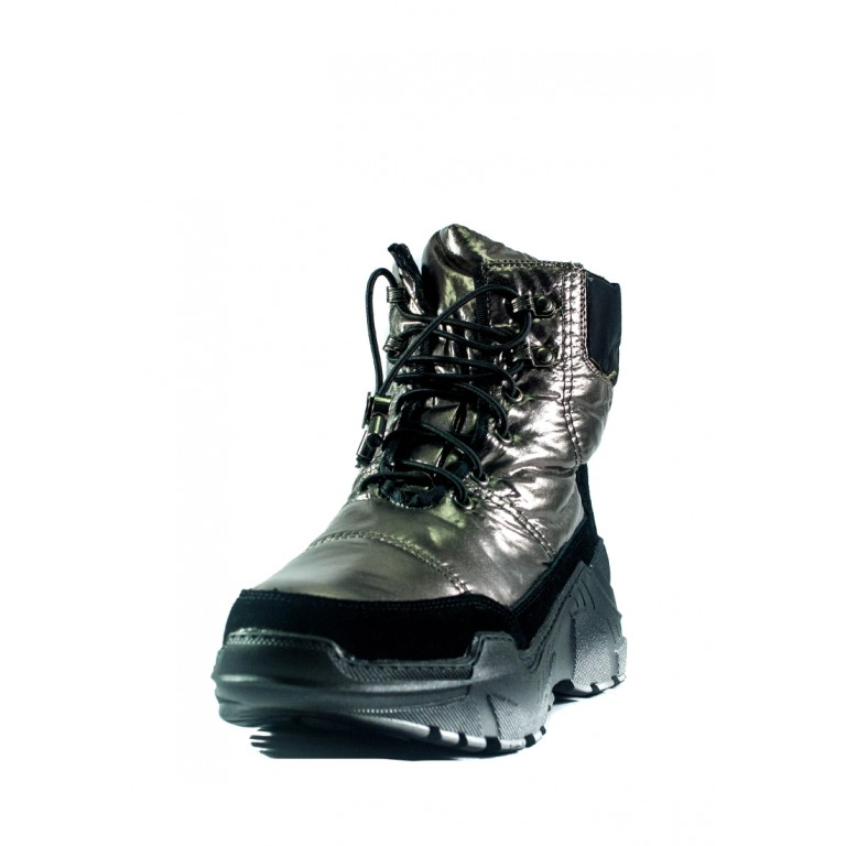 Ботинки зимние женские Lonza СФ 1627-S729 металлик