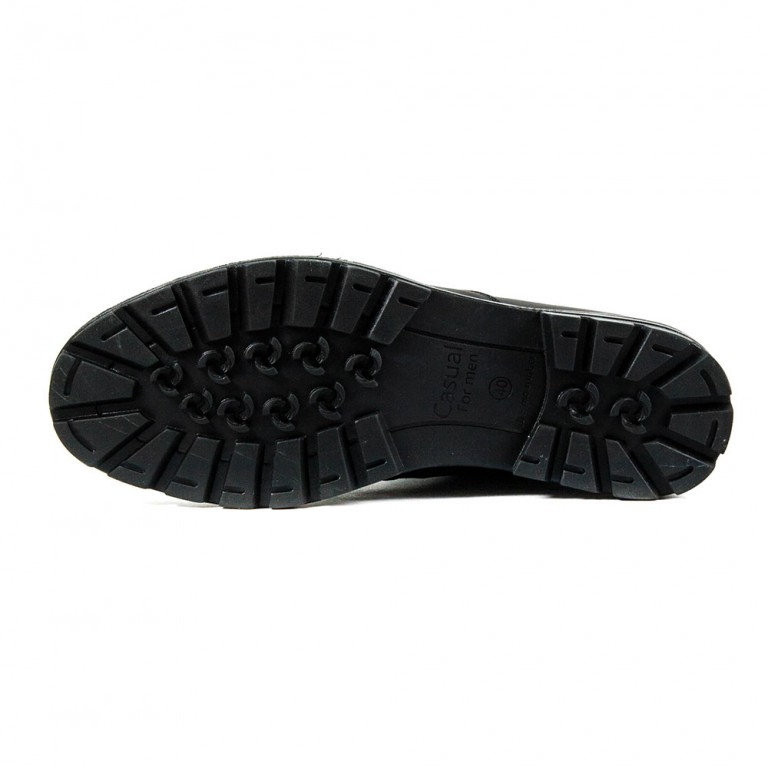 Туфли мужские MIDA 110727-3 черная кожа
