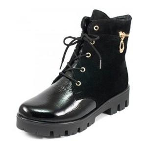 Ботинки демисез женск Vakardi V252-1D черный лак+замша
