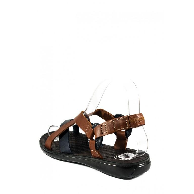 Сандалии женские TiBet 275-03-04 коричнево-синие