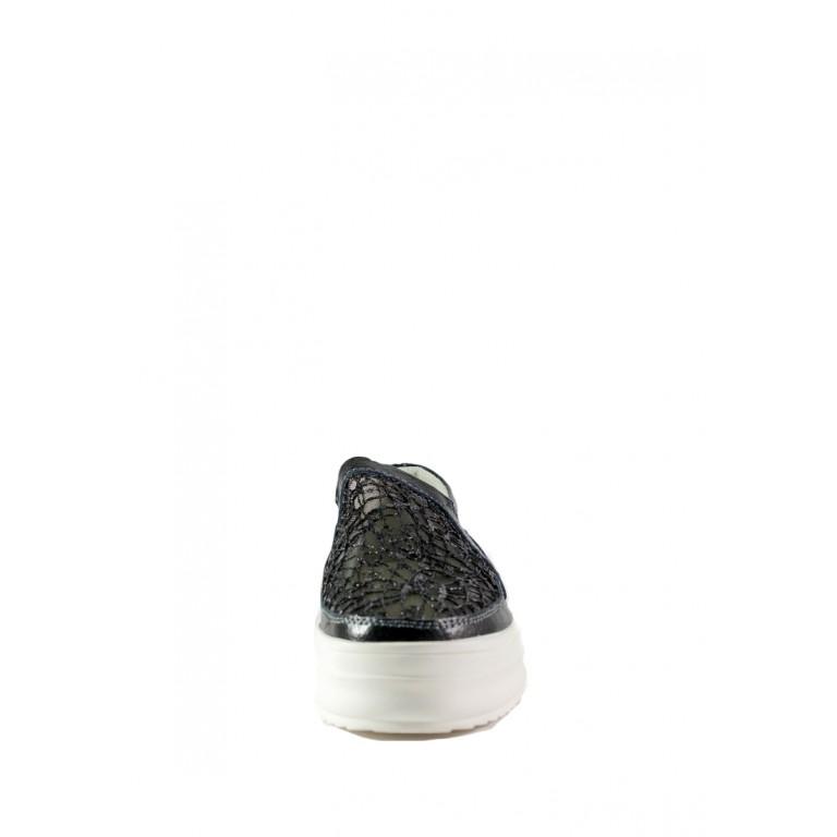 Слипоны женские Allshoes 86251 черные