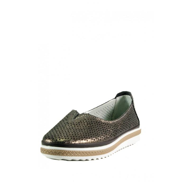 Мокасины женские Allshoes 17128-3K темно-серебряные