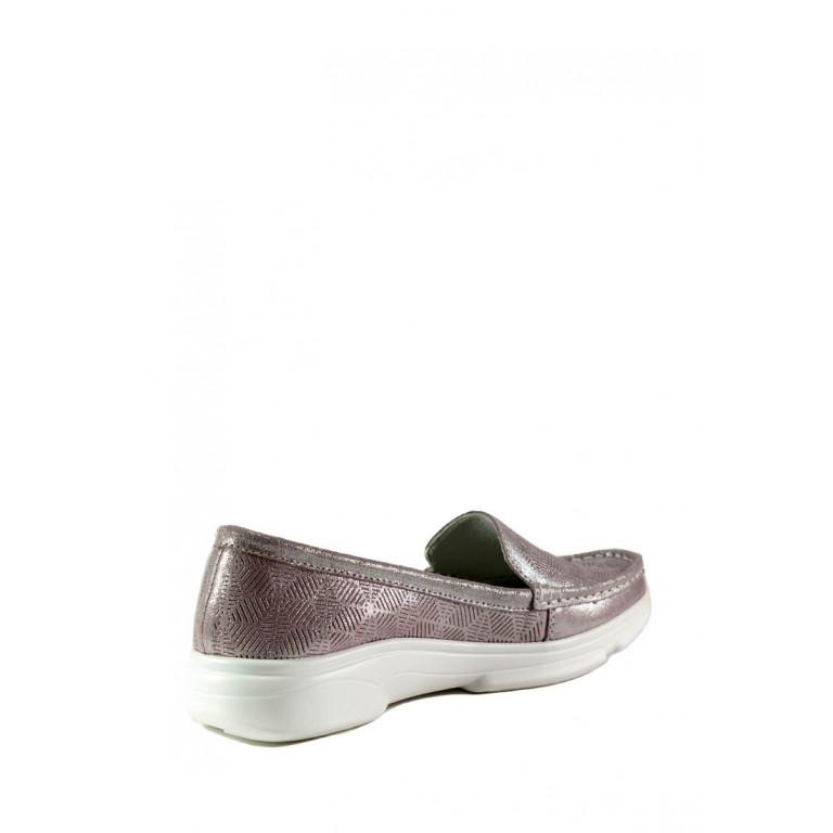 Мокасины женские Allshoes 206-21XM-020 светло-розовые