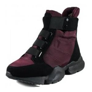 Ботинки зимние женские Prima D'arte 1552-F28-5 черно-бордовые