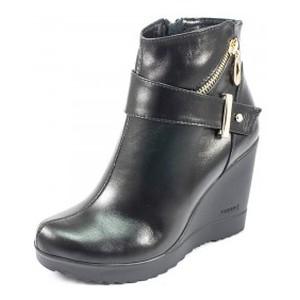 Ботинки демисез женск Vakardi V54D черная кожа