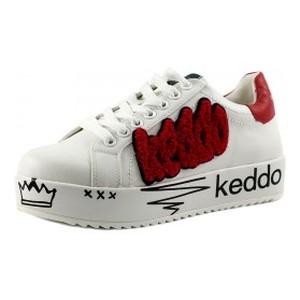 Кеды женские Keddo 897110-13-01 бело красные