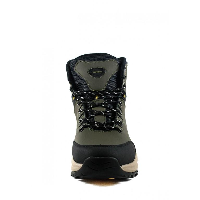 Ботинки зимние мужские Restime PMZ19136 хаки