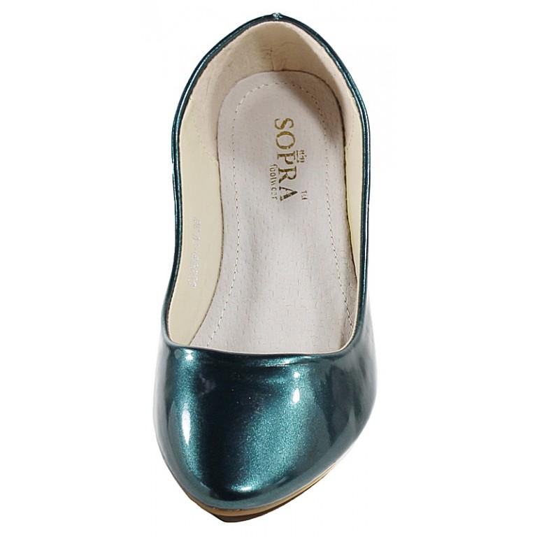 Балетки женские Sopra CG888-1Q зеленый лак