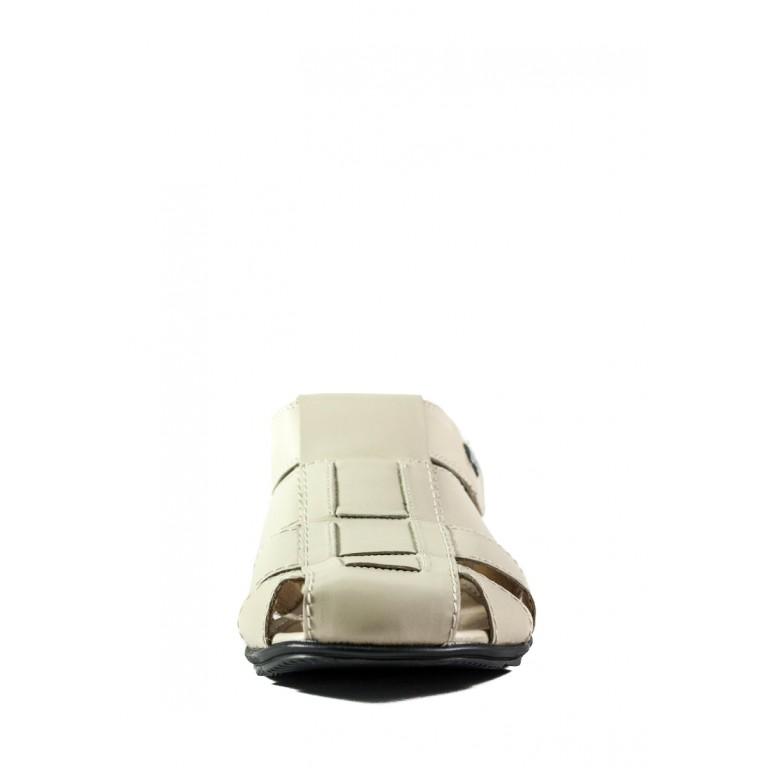 Сандали мужские MIDA 13743-9 молочная кожа