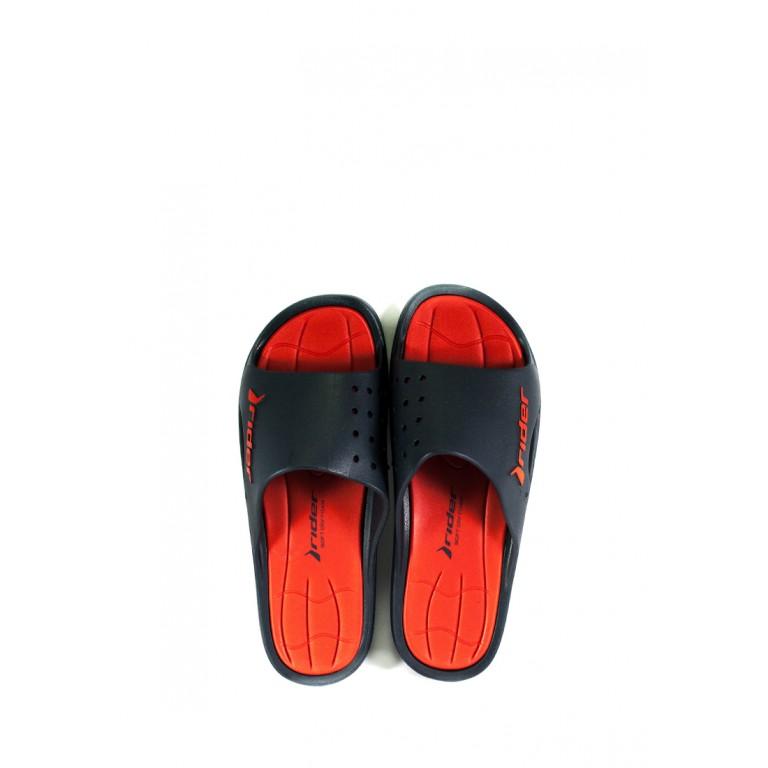 Шлепанцы мужские Rider 82819-20698 черно-красные