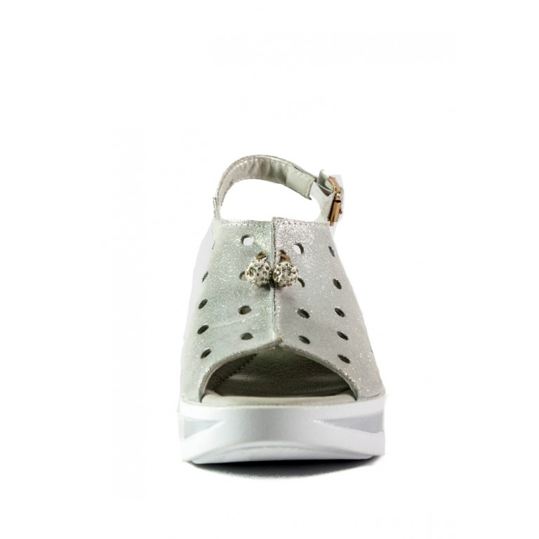 Босоножки женские летние Allshoes 3007-1 жемчужные
